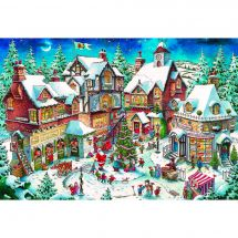 Kit de broderie Diamant - Wizardi - Agitation de Noël