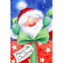 Kit de broderie Diamant - Wizardi - Père Noël avec cadeau