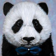 Kit de broderie Diamant - Wizardi - Panda avec noeud papillon