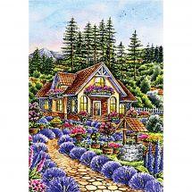 Kit de broderie Diamant - Wizardi - Petite maison dans le jardin