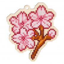 Support bois broderie Diamant - Wizardi - Sakura