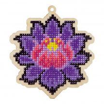 Support bois broderie Diamant - Wizardi - Lotus