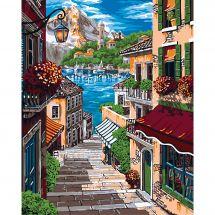 Kit de peinture par numéro - Wizardi - Ruelle européenne