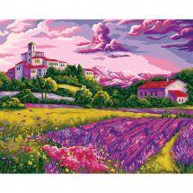 Kit de peinture par numéro - Wizardi - Chaude soirée en Provence