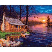 Kit de peinture par numéro - Wizardi - Cabane du pêcheur