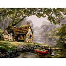 Kit de peinture par numéro - Wizardi - Rivière paisible