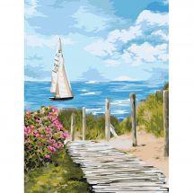 Kit de peinture par numéro - Wizardi - Chemin vers l'horizon