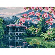 Kit de peinture par numéro - Wizardi - Paysage d'Orient