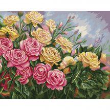Kit de peinture par numéro - Wizardi - Roses