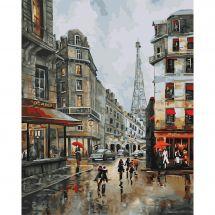 Kit de peinture par numéro - Wizardi - Journée à Paris