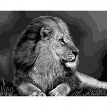 Kit de peinture par numéro - Wizardi - Roi des animaux