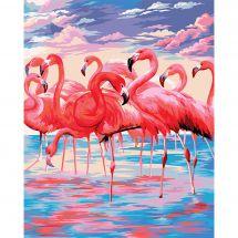 Kit de peinture par numéro - Wizardi - Lac rose