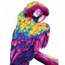 Kit de peinture par numéro - Wizardi - Perroquet Pop art