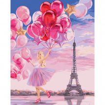 Kit de peinture par numéro - Wizardi - Paris glamour