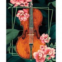 Kit de peinture par numéro - Wizardi - Violon vintage