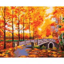 Kit de peinture par numéro - Wizardi - Parc à l'automne
