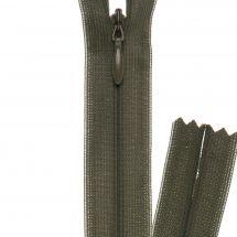 Fermeture non séparable - invisible - Prym - Fermeture Eclair ® Kaki foncé - 22 cm
