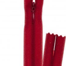 Fermeture non séparable - invisible - Prym - Fermeture Eclair ® Rouge sang - 22 cm