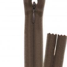 Fermeture non séparable - invisible - Prym - Fermeture Eclair ® Tabac - 22 cm
