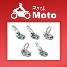 Curseur pour fermeture - ZlideOn - Lot de 5 curseurs argent - Pack Moto