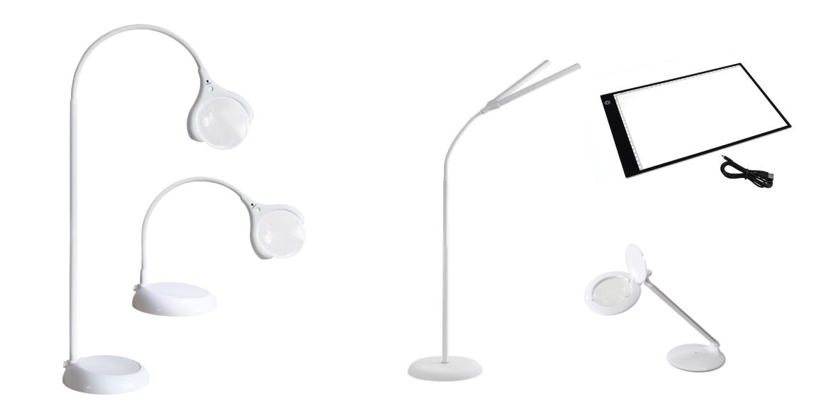 diverses types de lampes et lampes loupes